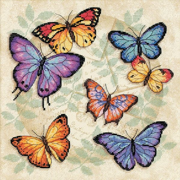 Dimensions Butterfly Profusion Counted Cross Stitch Kit