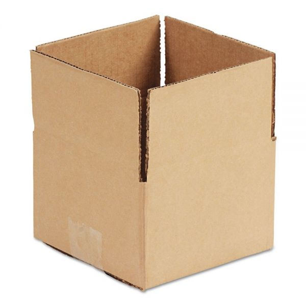 General Supply Brown Corrugated - Fixed-Depth Shipping Boxes, 18l x 12w x 8h, 25/Bundle