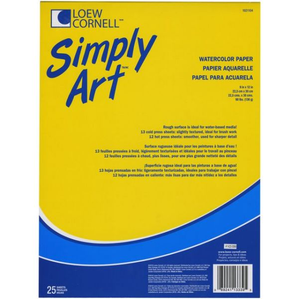 "Simply Art Watercolor Paper Pad 9""X12"""