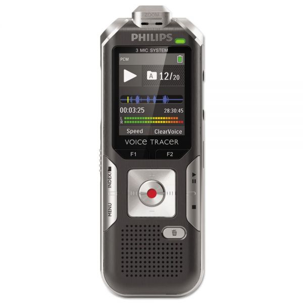 Philips Voice Tracer 6000 Digital Recorder, 4 GB, Silver Shadow/Anthracite