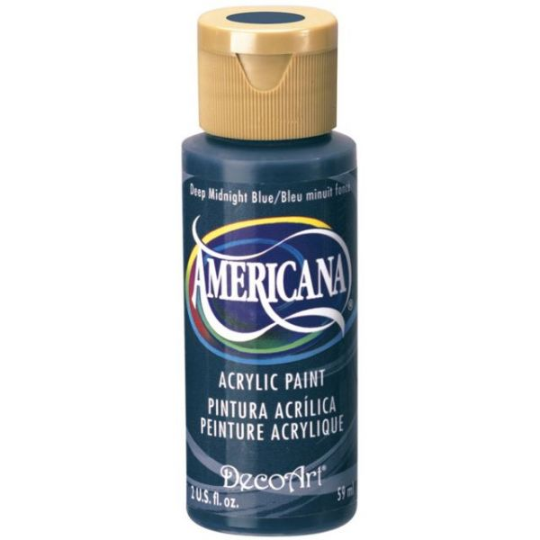 Deco Art Deep Midnight Blue Americana Acrylic Paint