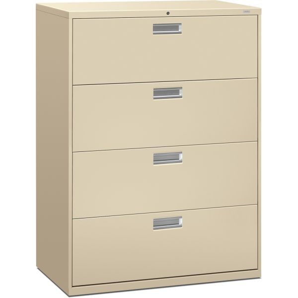 HON 600 Series 4 Drawer Locking Lateral File Cabinet