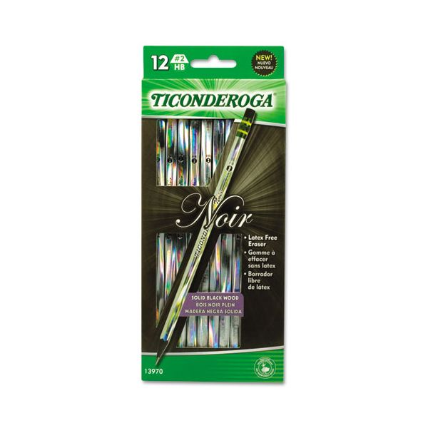 Ticonderoga Noir #2 Wood Pencils