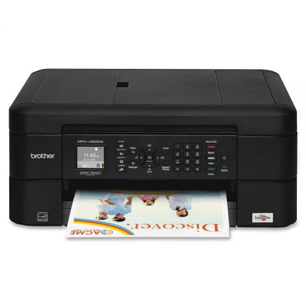 Brother Work Smart MFC-J460DW Inkjet Multifunction Printer - Color - Duplex
