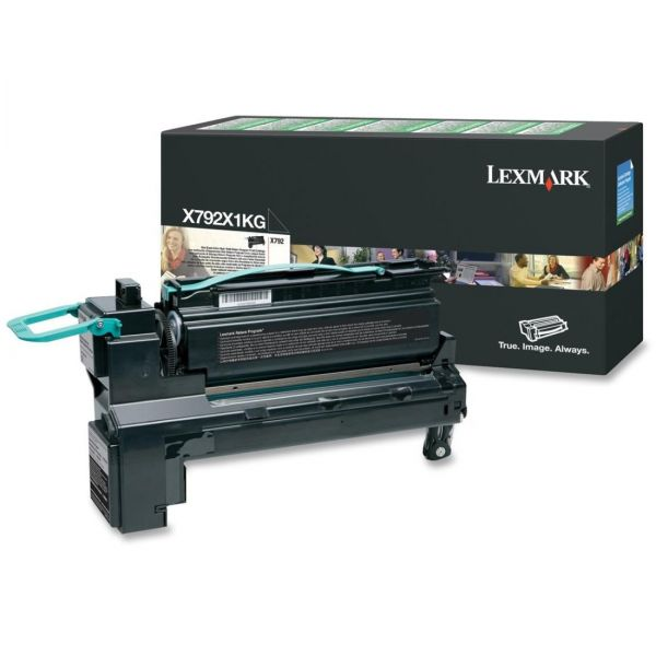 Lexmark X792X1KG Black Extra High Yield Return Program Toner Cartridge