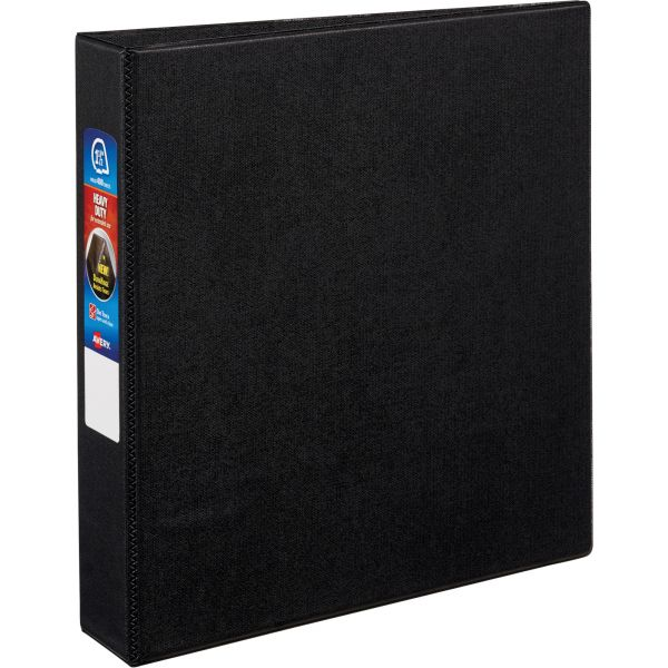 "Avery Heavy-Duty 3-Ring Binder with One Touch EZD Rings, 1 1/2"" Capacity, Black"