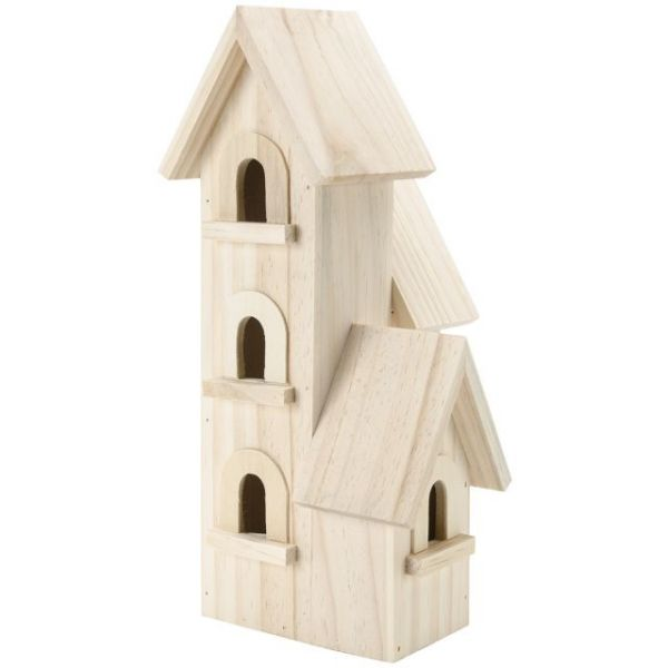 Darice Natural Wood Manhattan Birdhouse