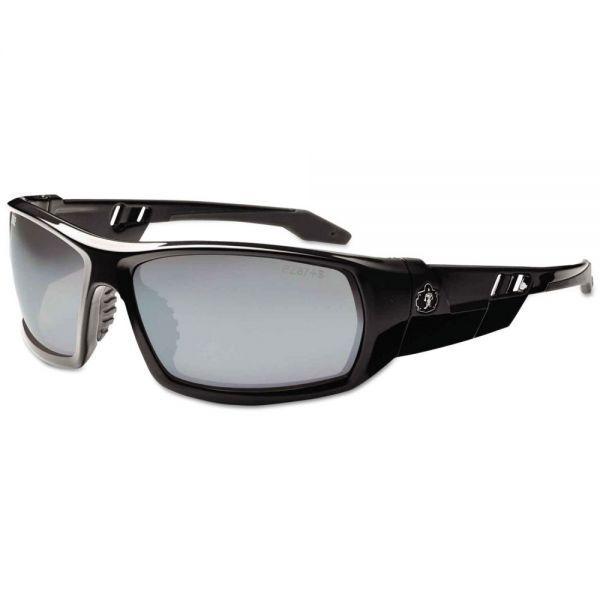ergodyne Skullerz Odin Safety Glasses, Black Frame/Silver Lens, Nylon/Polycarb