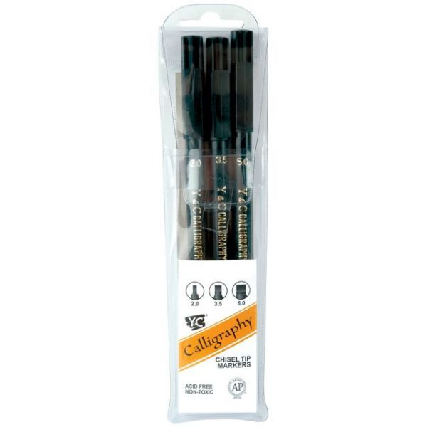 Calligraphy Chisel Tip Markers 3/Pkg