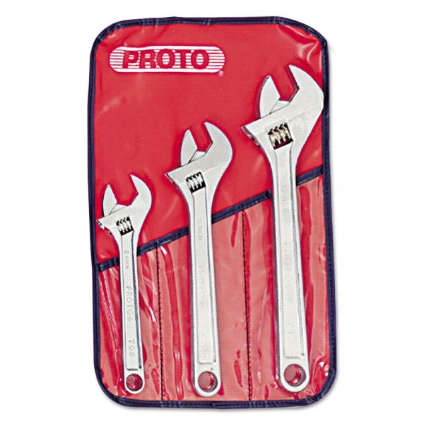 PROTO PROTO Three-Piece Adjustable Wrench Set