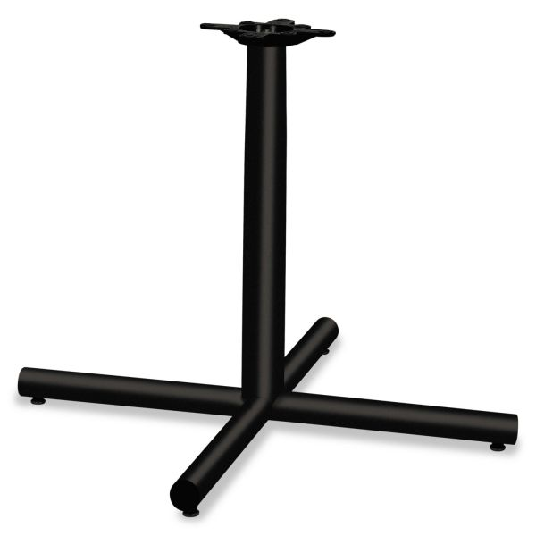 HON Single Column Steel Base, 36w x 36d x 27-7/8h, Black