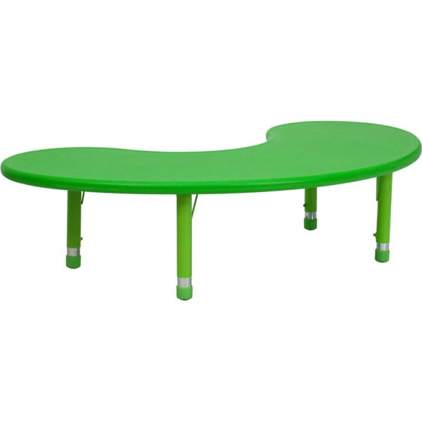 Flash Furniture Height Adjustable Half-Moon Activity Table
