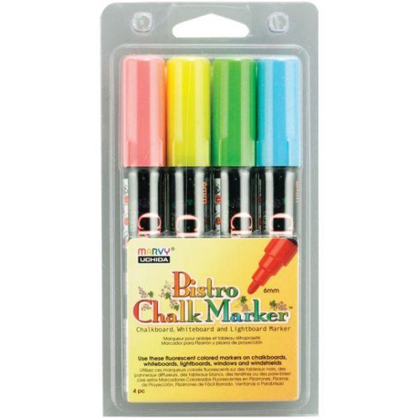 Bistro Chalk Marker 6mm Point Set 4/Pkg