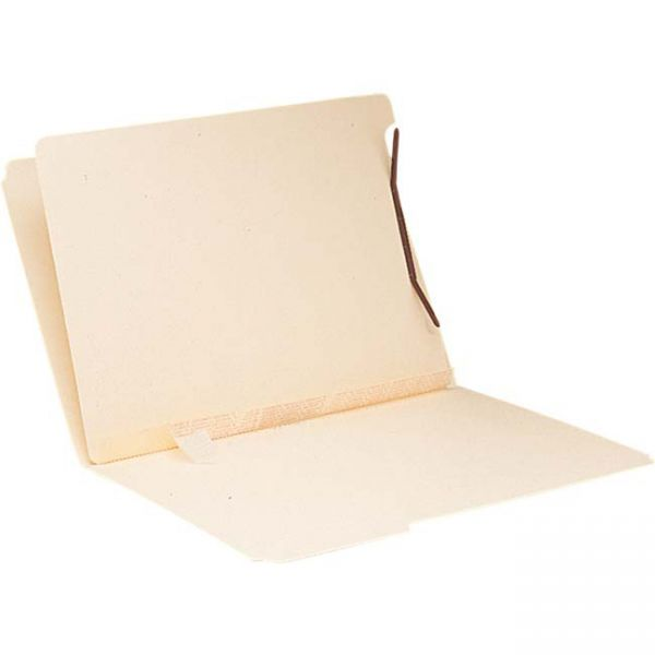 Smead 68027 Manila Self-Adhesive Folder Dividers with Twin Prong Fastener