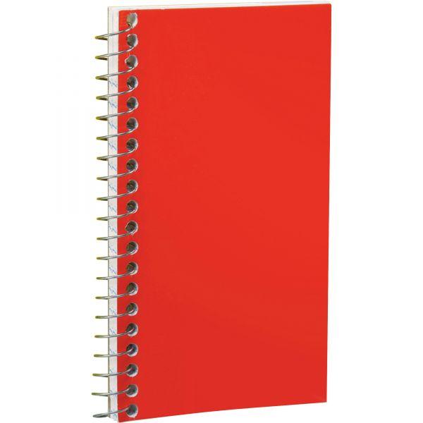 Ampad Wirebound Pocket Memo Book, Narrow, 5 x 3, White, 50 Sheets