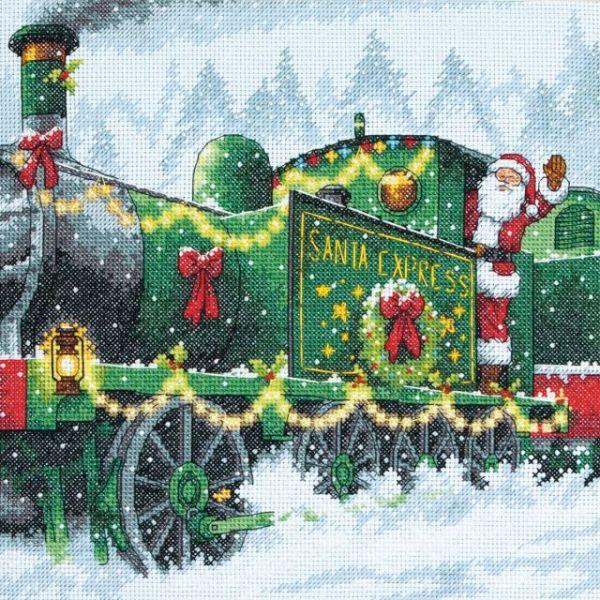 Santa Express Counted Cross Stitch Kit