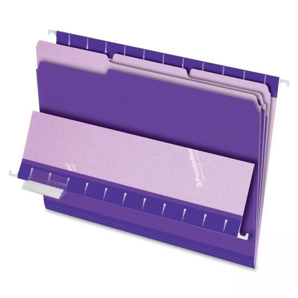 Pendaflex Purple Colored File Folders
