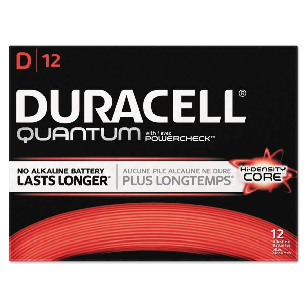 Duracell Quantum D Batteries with Duralock Power Preserve Technology