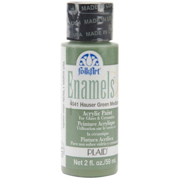 Folk Art Enamels Hauser Green Medium Acrylic Paint