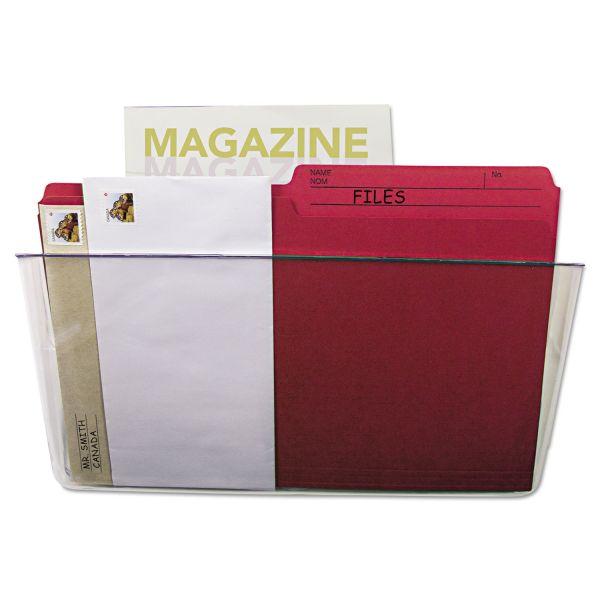 Storex Wall File, Letter, 13 x 7, Single Pocket, Clear