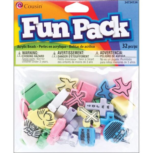 Fun Pack Acrylic Shaped Beads 32/Pkg