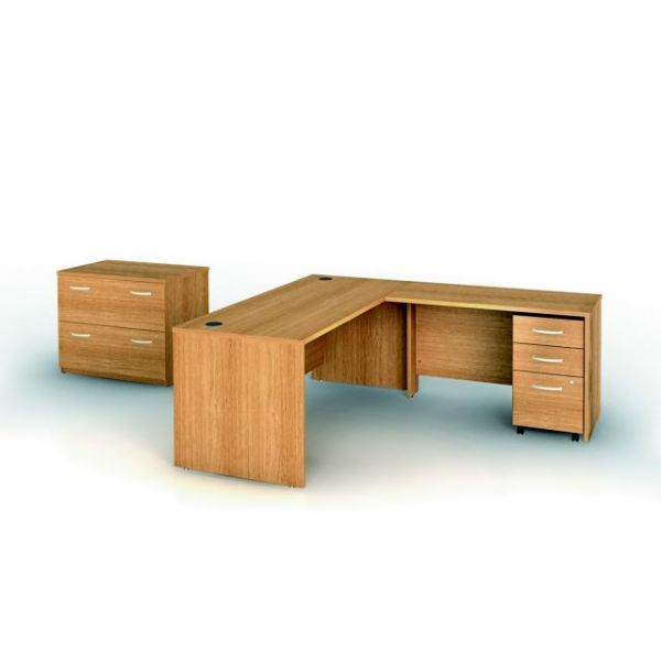bbf Series C Professional Configuration - Light Oak finish by Bush Furniture