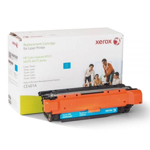 Xerox 006R03009 Replacement Toner for CE401A (507A), Cyan