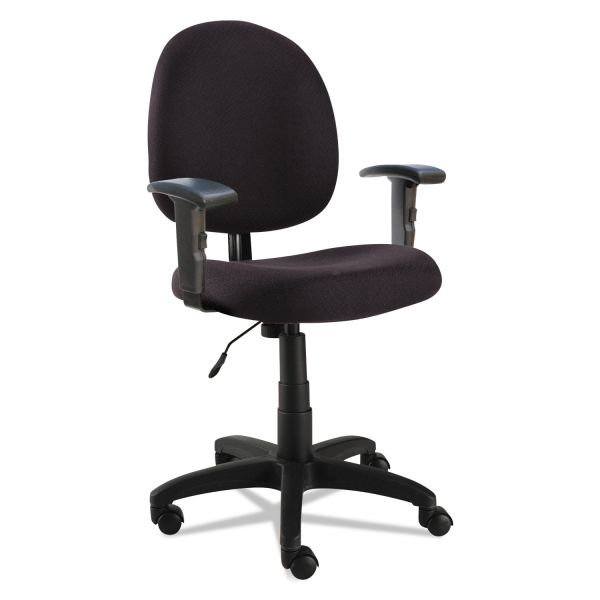 Alera Essentia Series Swivel Task Chair with Adjustable Arms, Black