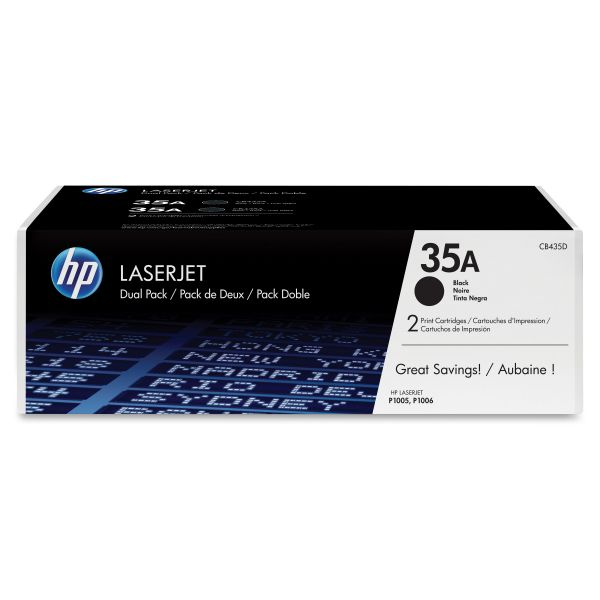 HP 35A Black Toner Cartridges (CB435D)