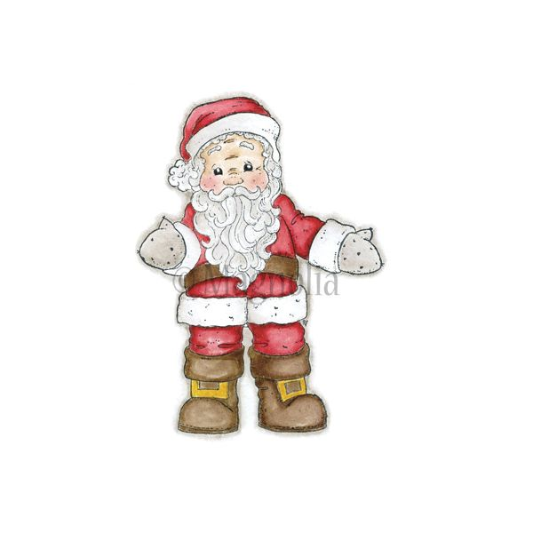 "Santa Cling Stamp 6.5""X3.5"" Package"