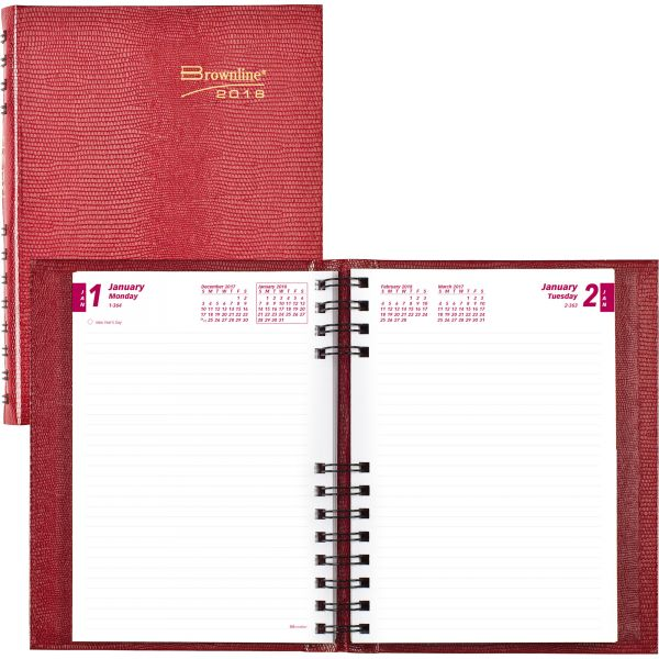 Rediform Hard Cover Daily Planner