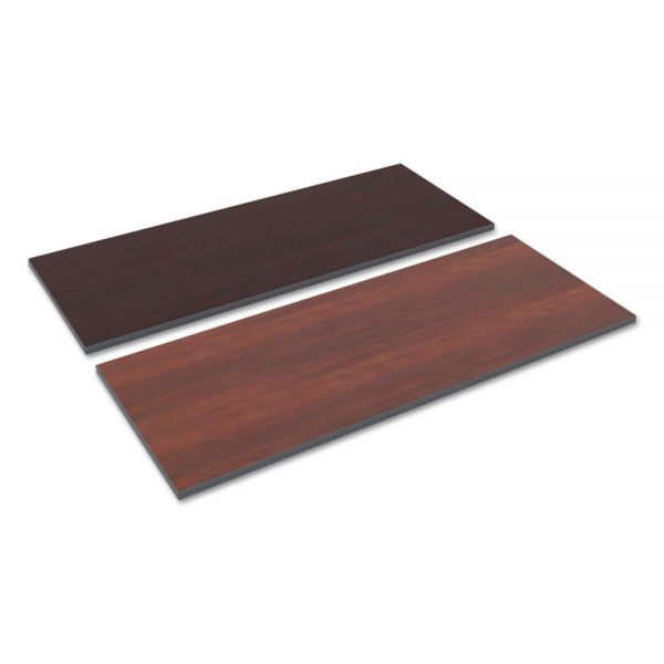 Alera Reversible Laminate Table Top, Rectangular, 59 1/2w x 23 5/8,Med Cherry/Mahogany