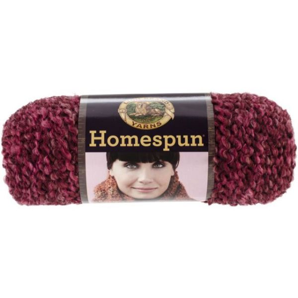 Lion Brand Homespun Yarn - Claret