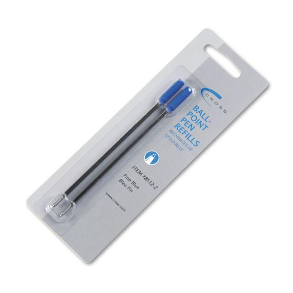 Cross Refills for Ballpoint Pens, Fine, Blue Ink, 2/Pack