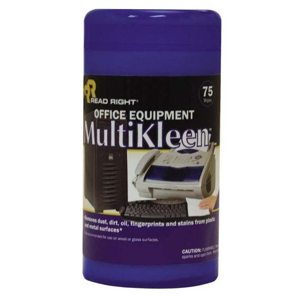 Advantus Read/Right Office Equipment MultiKleen Wipes