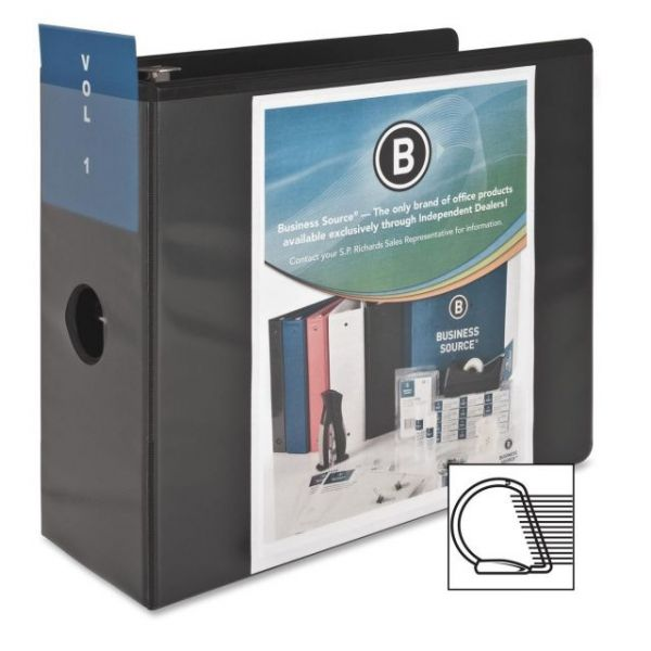 "Business Source Basic 5"" 3-Ring View Binder"