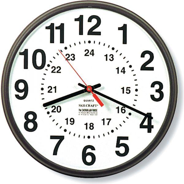 SKILCRAFT 24-Hour Wall Clock