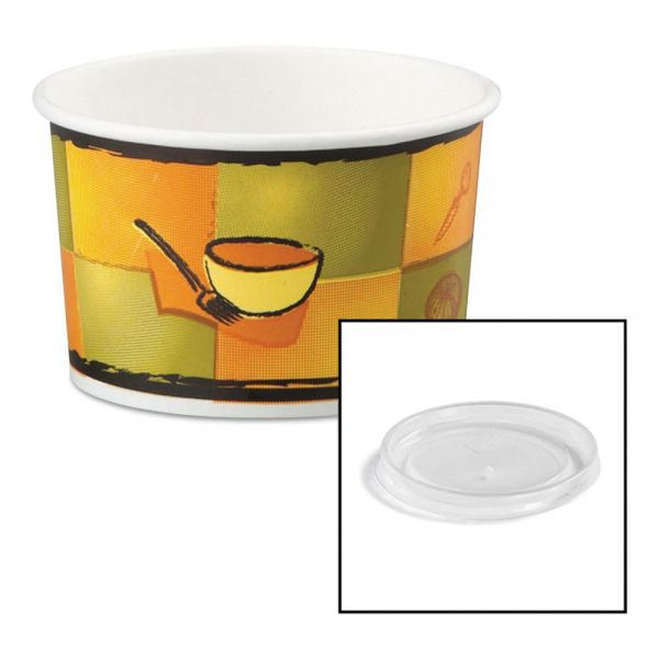 Chinet Streetside Paper Takeout Food Containers w/Plastic Lids