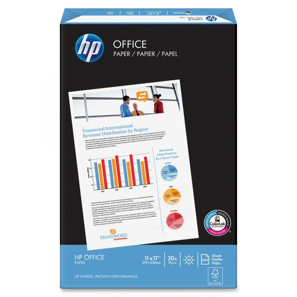 "HP Office White 11"" x 17"" Copy Paper"