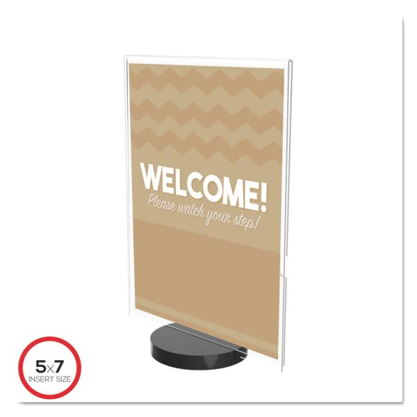 deflecto Superior Image Round Base Sign Holder