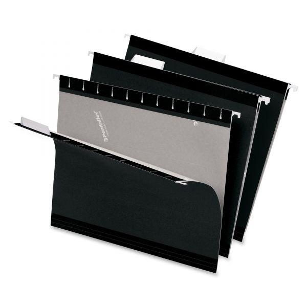 Pendaflex Reinforced Hanging Folders, 1/5 Tab, Letter, Black, 25/Box