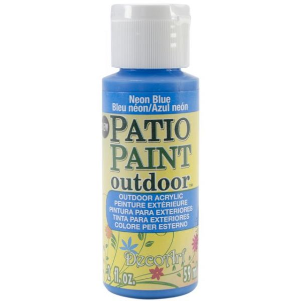 Deco Art Neon Blue Patio Paint