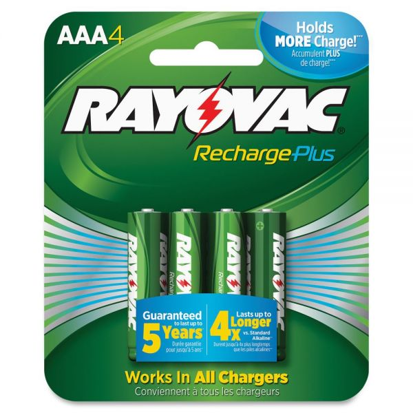 Rayovac Platinum Rechargeable AAA Batteries