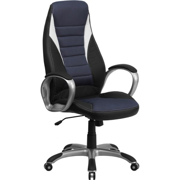 Flash Furniture High Back Executive Swivel Office Chair [CH-CX0243H-SAT-GG]