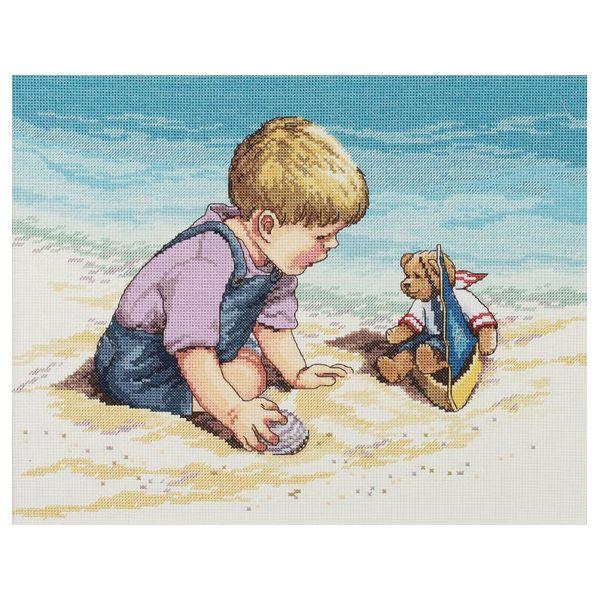 Seashore Fun Counted Cross Stitch Kit