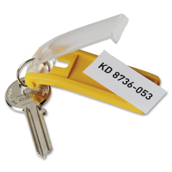 Durable Key Tags for Locking Key Cabinets, Plastic, 1 1/8 x 2 3/4, Assorted, 24/Pack