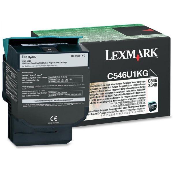 Lexmark C546U1KG Black Extra High Yield Return Program Toner Cartridge