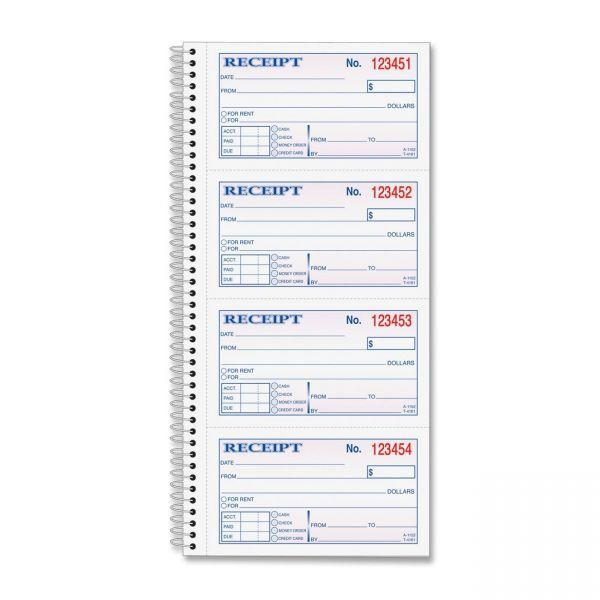 TOPS Money/Rent 2-Part Receipt Book