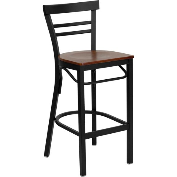 Flash Furniture HERCULES Series Ladder Back Barstool