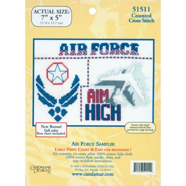 Air Force Sampler Mini Counted Cross Stitch Kit